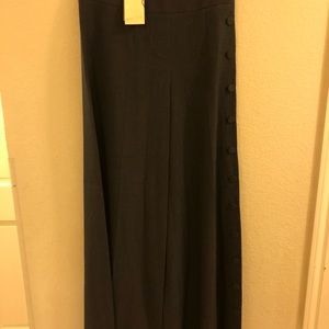 NWT Anthropologie Wide Leg Side Button Trousers